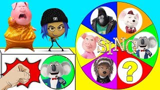The Sing Movie Spin the Wheel Game with The Emoji Movie Hi-5, Jailbreak, Paw Patrol   Ellie Sparkles