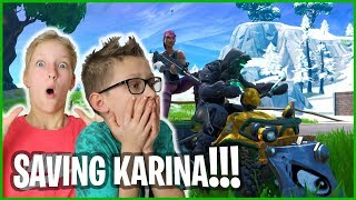 Gambar cover PLAYING FORTNITE WITH KARINA!!!