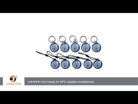 GoToTags NFC Epoxy Key Tag 28 mm Circle - NXP NTAG203 - Blue - 10 Pack | Review/Test
