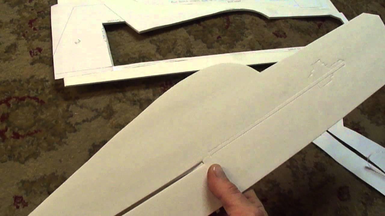 Part # 1 of 3 Profile 3D plane  Cutting and assembling (PDF) plans   foamconceptjets com