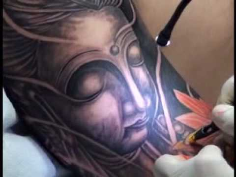 New Buddha tattoo, (xam nghe thuat).wmv