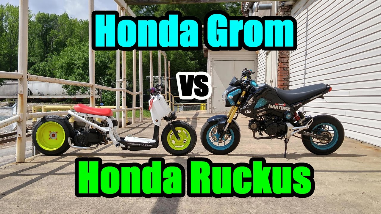 Honda Grom VS Honda Ruckus Part 2 - YouTube