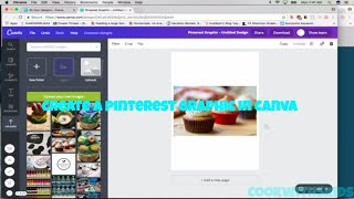 How to create a Pinterest graphic in Canva tutorial step by step