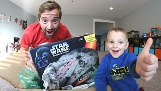 Father & Son GET AMAZING TOY SHIP! The Millenium Falcon!