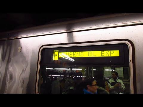 IND 6th Avenue line: Jamaica bound R46 (F) Train at West 4 Street-Washington Square