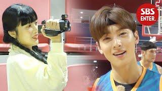 조이, 차은우 속마음 듣는 준비된 VJ ※조이캠   진짜 농구, 핸섬 타이거즈   SBS Enter.