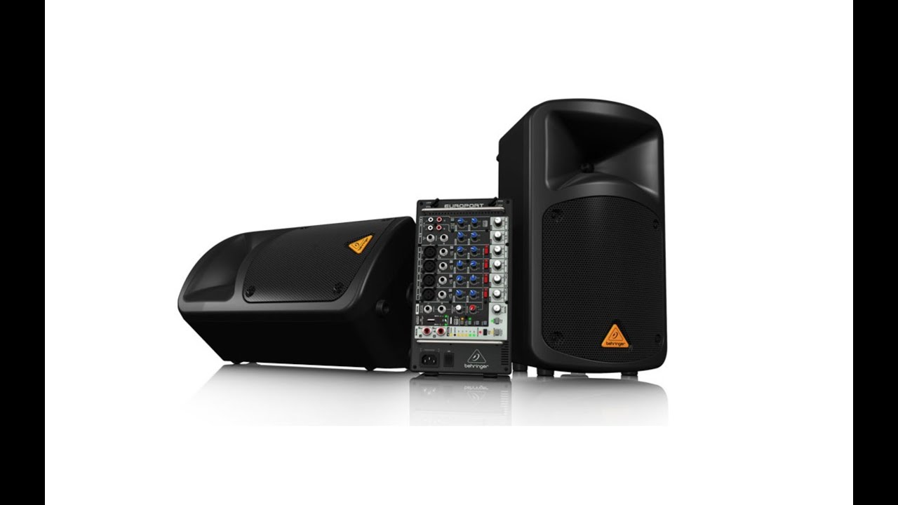 Europort EPS500MP3 500-Watt 8-Channel Portable PA System with MP3 Player