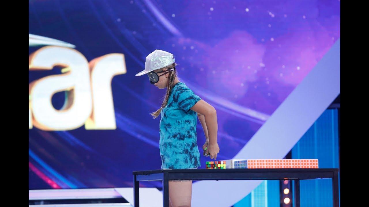 Alexia Fierbințeanu Călinescu, spectacol cu peste 100 de cuburi Rubik, în Marea Finală