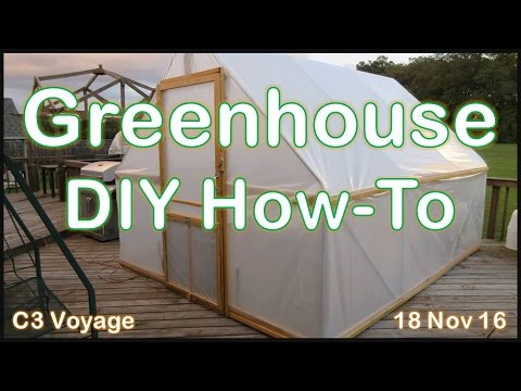 DIY Greenhouse Build - A How To Video