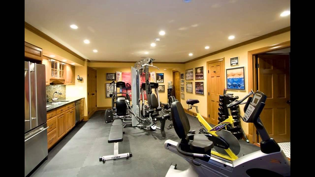 Home Gym Design: Basement Home Gym Design Decorating Ideas