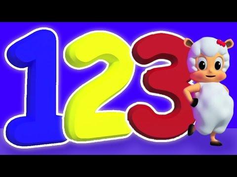 Número de la canción 1 a 100 | vídeo en 3D para niños | Vídeo Educativo