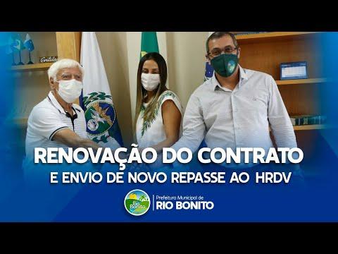 Renovação do contrato e  envio de novo repasse ao Hospital Darcy Vargas