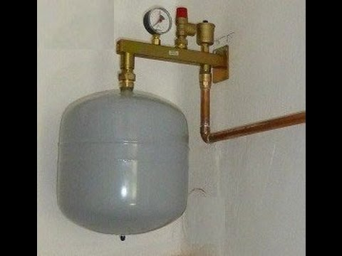 How to recharge hot water boiler expansion vessel/tank