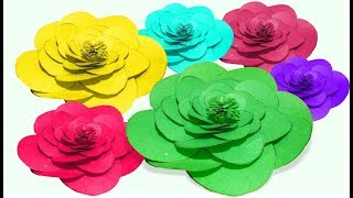 Colored paper flower - how to make  flower using colored paper Tuber Tip