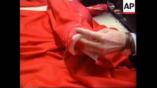 ITALY: TAYLORS PREPARING CARDINALS OUTFITS