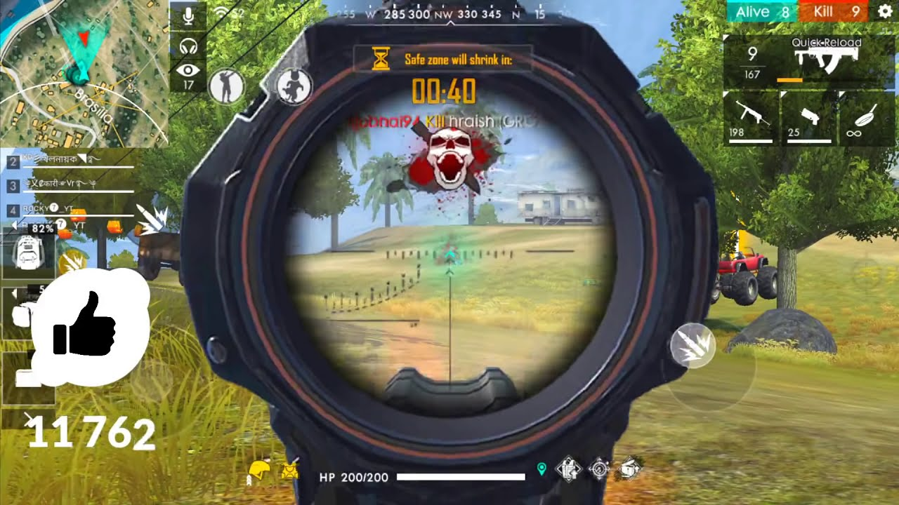 Total 21 Kills in Squad Match Gameplay - Garena Free Fire - YouTube