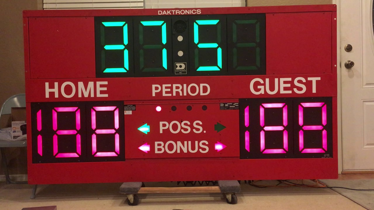 Daktronics BB-1013B Basketball Scoreboard For Sale