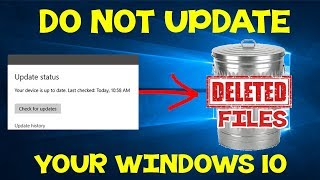 *FIXED* Windows 10 Update will DELETE ALL YOUR FILES! (Version 1809)