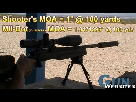Minute of Angle MOA & 3 shot, 100yd Zero