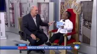 cidade alerta Anão invade Cidade Alerta e realiza desejos de Marcelo Rezende 05 04 2014 mircmirc