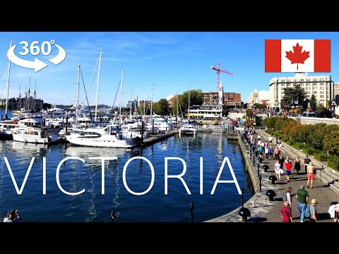 Victoria BC Inner Harbour Pathway 360° Walking Tour (2019)
