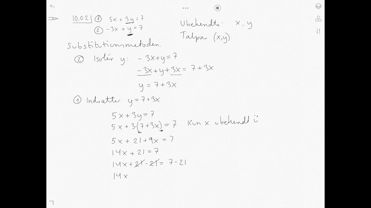To ligninger med to ubekendte   opg 10.02 Grundforløbsmateriale GHG 2019