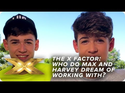 Max and Harvey reveal the MEGASTAR they want to perform with | X Factor: Celebrity