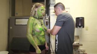 Repeat youtube video Body Artist - Body Painting at Voltage Nightclub Baltimore, MD Zombie Apocalypse Bash