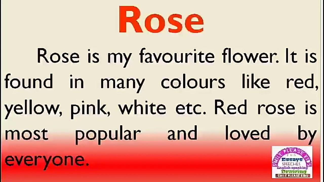rose flower sentence in english