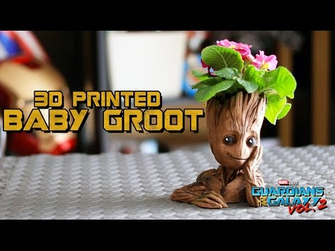 Baby Groot Flower Pot | Guardians Of The Galaxy 2 | 3D Printed