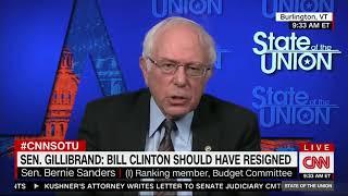 Bernie Sanders dodges questions on Bill Clinton, whether Al Franken should step down