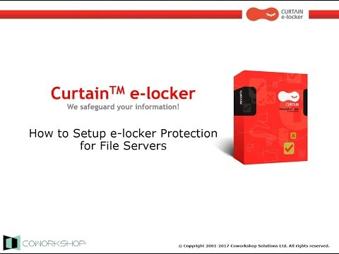 How to Setup e-locker Protection for File Servers