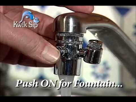 Kwik Sip In Home Faucet Attachment Water Fountain Youtube