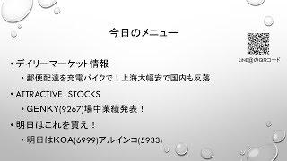 【株】10.18 デイリーマーケット情報 上海大幅安の流れを受け日経平均反落! thumbnail
