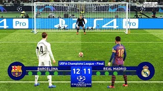 PES 2019 | Barcelona vs Real Madrid | Final UEFA Champions League (UCL) | Penalty Shootout
