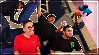 Gang Beasts | التنمر على اليوتيوبرز بجمعة الشرقية 😂