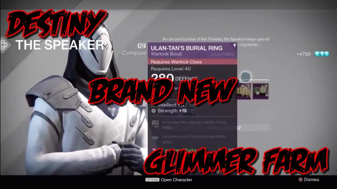 Destiny glimmer farming location april update youtube