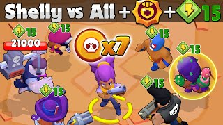Super Shelly VS All + 15 Powers + 4500 HP | Who resists the most?