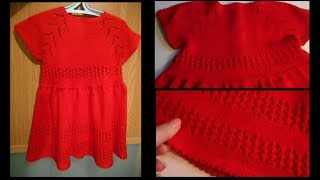 Как связать нарядное ажурное платье