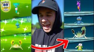 EVOLVING TO NEW SHINY POKÉMON! (Pokémon GO Fest 2019)