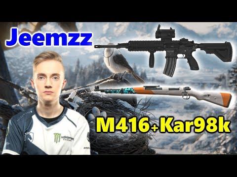 Team Liquid Jeemzz - M416 + Kar98k - SOLO Vs SQUADS - VIKENDI - PUBG