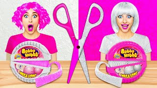 SILVER VS PINK CHALLENGE | 24 Hours Eating Food in PINK and SILVER Color by Multi DO! CHALLENGE