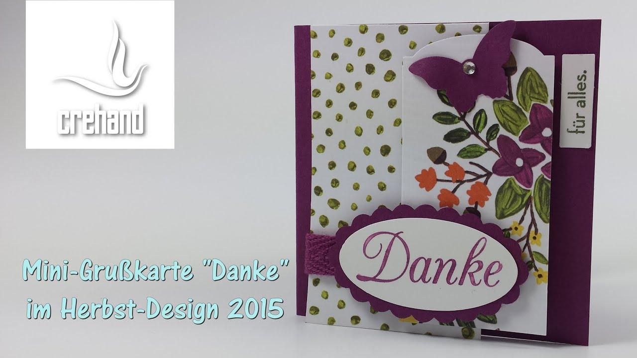 Mini gru karte im neuen herbstdesign 2015 mit stampin 39 up for Carola henke