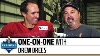 One-on-One with Drew Brees | 2018 Saints Training Camp