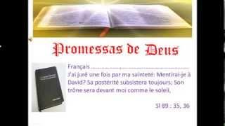 Promessas de Deus Sl oitente e nove Vs trinta e cinco e trinta e seis