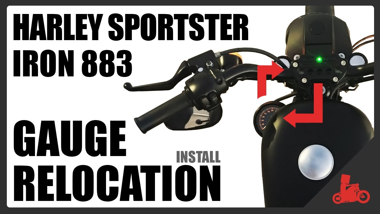 How To Gauge Relocation Install On Harley Sportster Iron 883 Youtube 2013 Speedometer Wiring Diagram