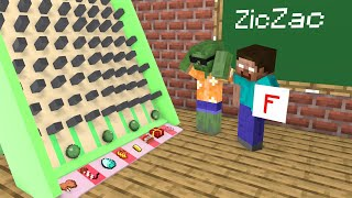 Monster School : Ziczac Game - Funny Minecraft Animation