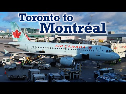 Full Flight: Air Canada A319 Toronto To Montréal (YYZ-YUL)