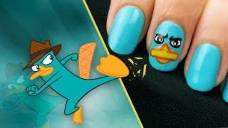 Perry the Platypus (Agent P) Nail Art | A CutePolish Disney Exclusive