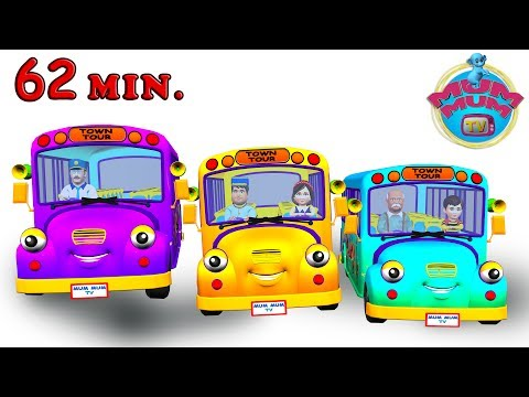 The Wheels On The Bus Go Round And Round Song with Lyrics - Nursery Rhymes for Children in English